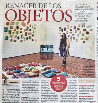 #RENACER DE LOS  #OBJETOS Artículo de Ernesto Carlín para el Diario oficial El Peruano  #REBIRTH OF OBJECTS  Article by Ernesto Carlín for El Peruano newspaper